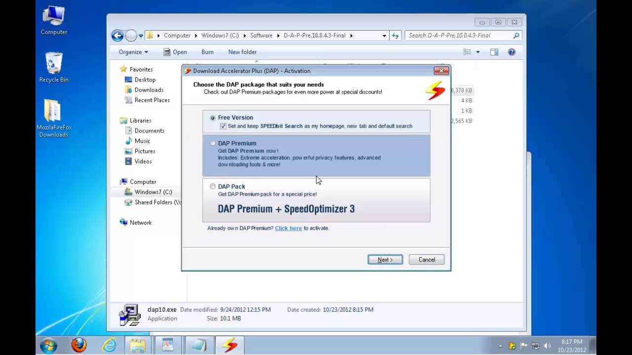 how to use download accelerator plus