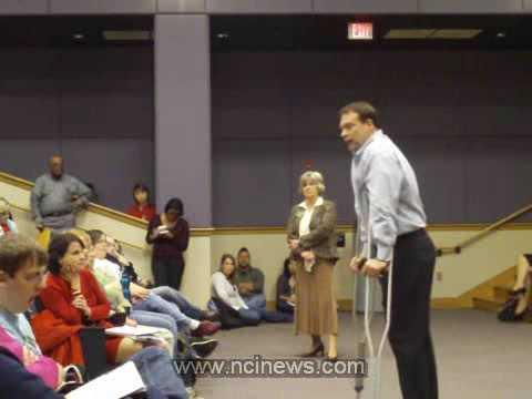 Congressman Heath Shuler at WCU 11/12/2009 Part 6