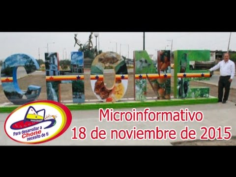 Microinformativo 18 noviembre 2015
