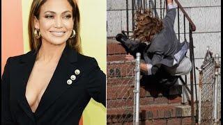 Jennifer Lopez! y su impactante caida durante el rodaje de Shades of blue.