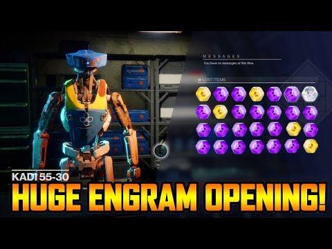 DESTINY 2 - HUGE EXOTIC ENGRAM + LEGENDARY ENGRAM OPENING LIVE!!! (Destiny 2 Loot Gameplay)