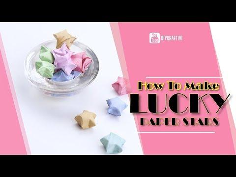 COOL! Lucky Paper Stars Tutorial - Step By Step - DIY Craft DIY Kids