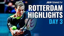 Pospisil Stuns Medvedev; Auger-Aliassime and Monfils Advance | Rotterdam Day 3 Highlights
