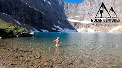 Iceberg Lake: Many Glacier, Montana: Glacier National Park - 11 mile hike w/ Grizzly Bears & Moose