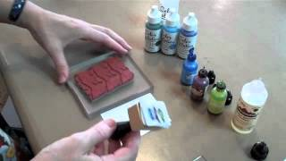 Stamping with alcohol inks