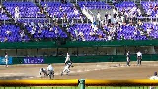 立命館宇治、8回裏同点のチャンス。対花園。第99回全国高校野球京都大会 thumbnail