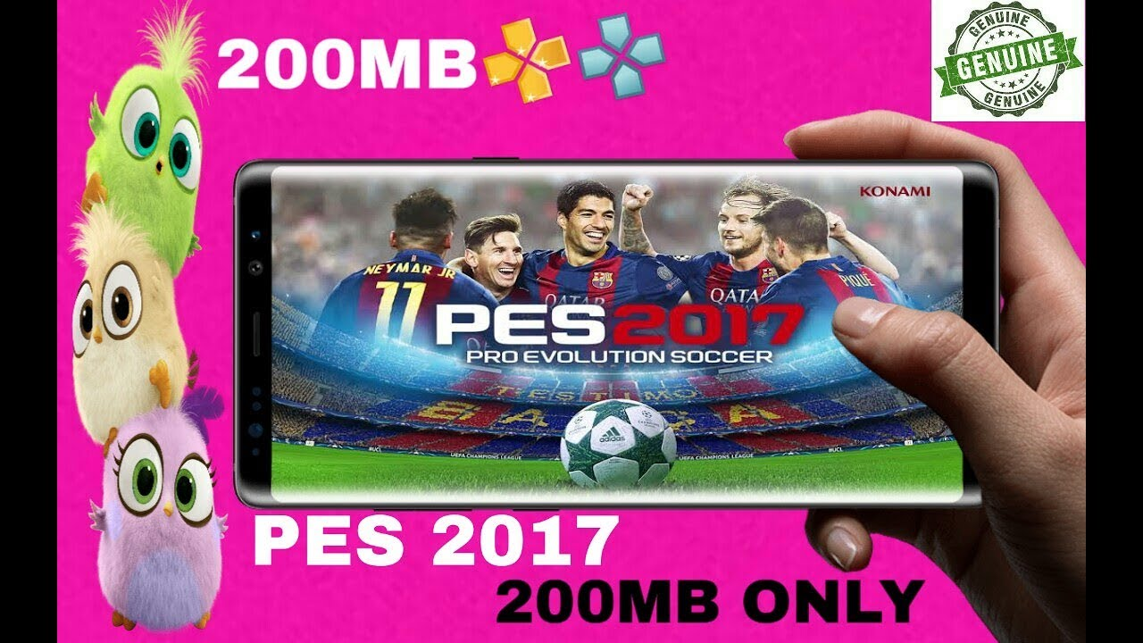 🥇 Pes 2017 200mb highly compressed psp android 2019 offline game