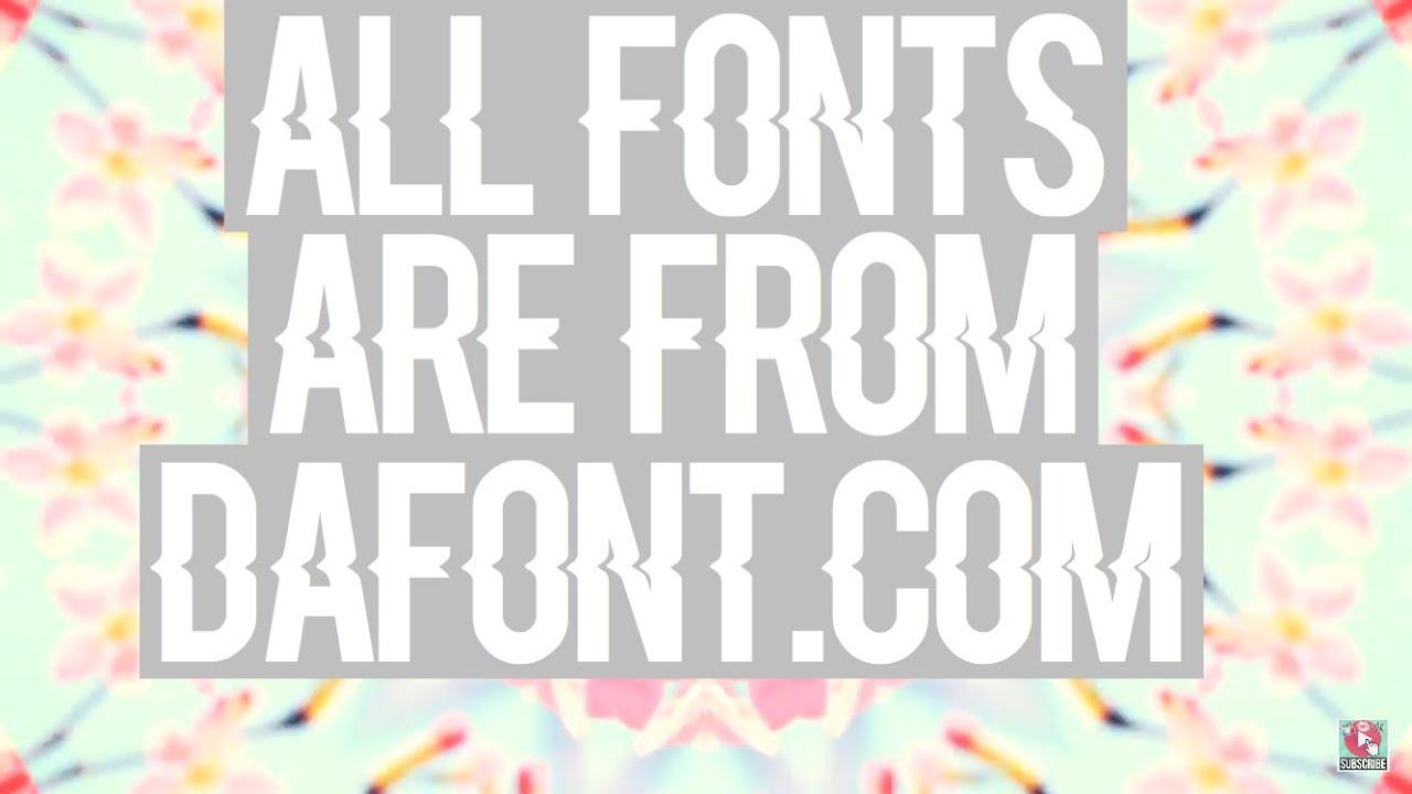 Download Font Pack #1| DaFont.com - YouTube