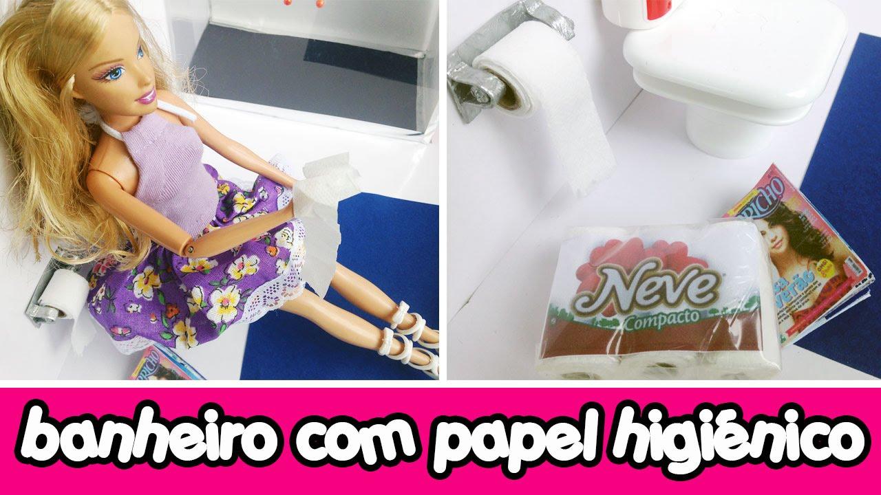 Papel Higinico para o banheiro de bonecas Barbie  Monster High  YouTube