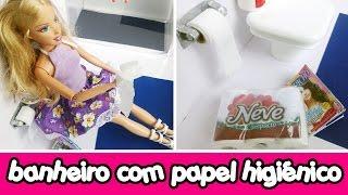 Papel Higiênico para o banheiro de bonecas Barbie & Monster High