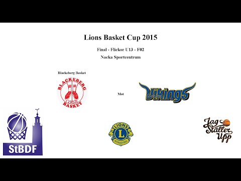 Flickor U13 Lions Final 2015: BLACKEBERG EKERÖ - SOLNA VIKINGS