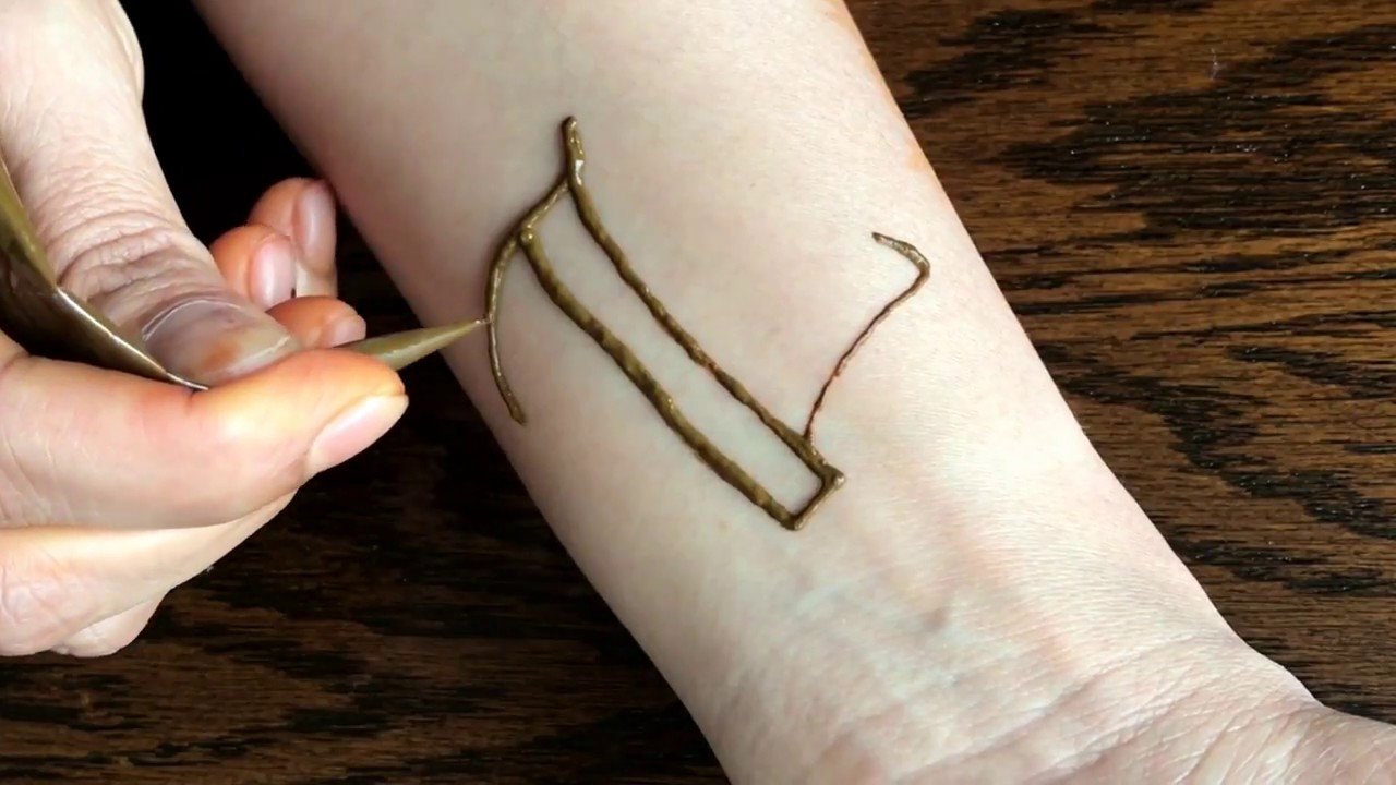 DIY Henna Design Letter Z Calligraphy Style Tattoo