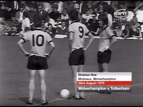 Wolves v Tottenham Hotspur, 22nd August 1970
