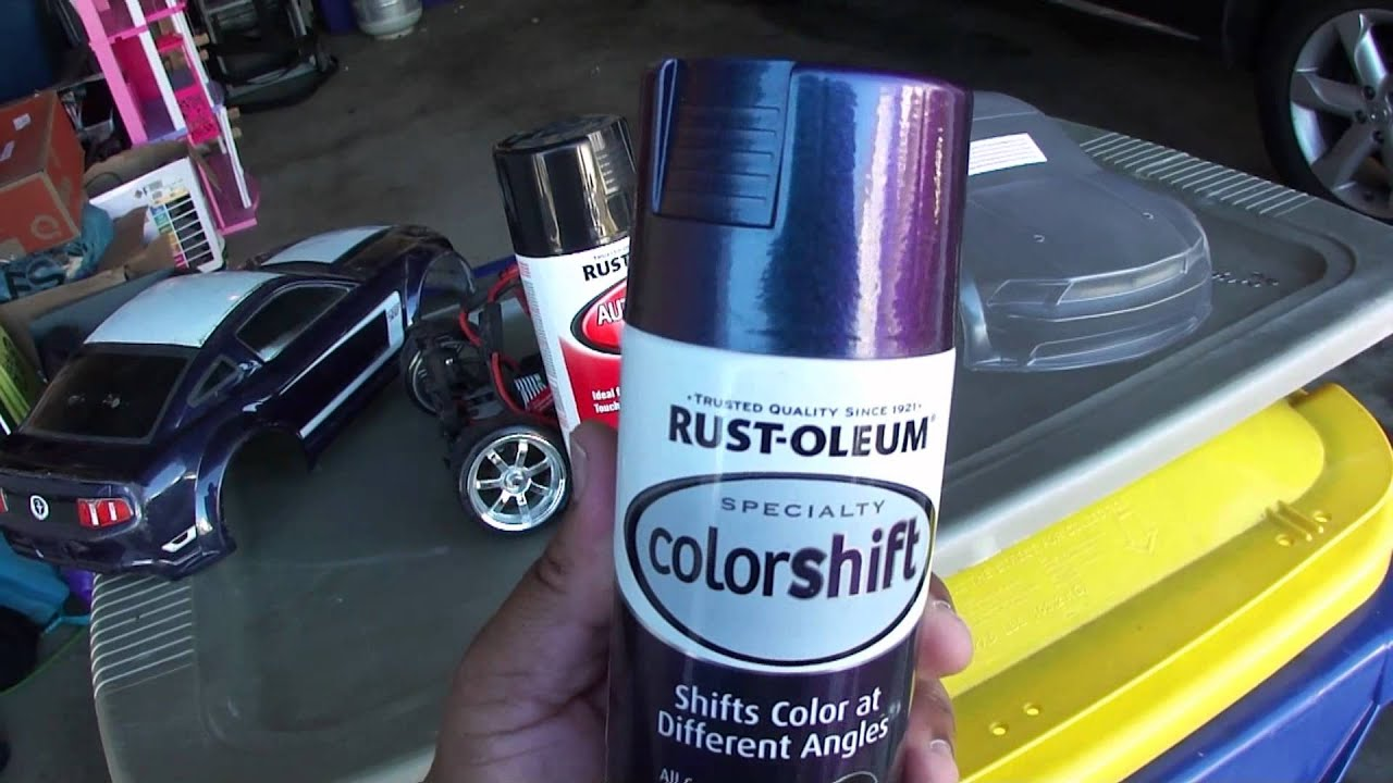 color changing spray paint