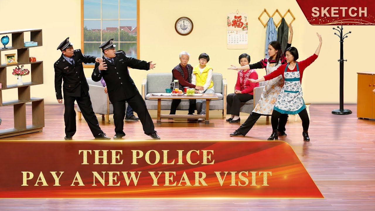 """Short Sketch From the Christian Church   """"The Police Pay a New Year Visit"""" (English Dubbed)"""
