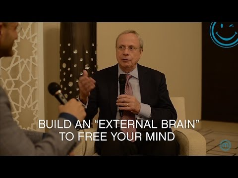 "Build an ""External Brain"" to free your mind - David Allen"