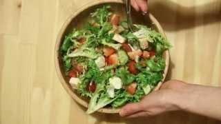 Как приготовить салат из овощей с адыгейским сыром