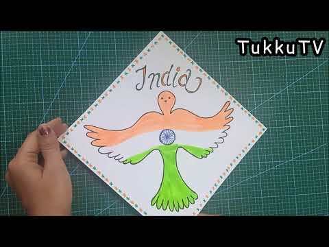 Republic Day Drawing - How To Draw   Easy For Kids   Indian Flag Drawing