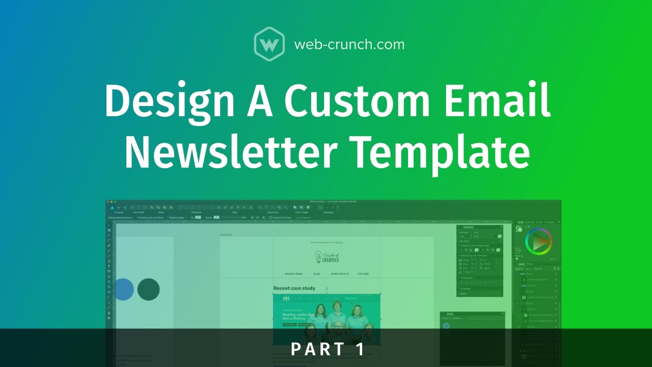 Design A Custom Email Newsletter Template Part 1 Youtube