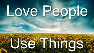 What do porn addicts really need? (Love People, Use Things Podcast #1)