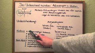 Aufwendungen und Kosten - Unterschied verständlich erklärt (KLR)