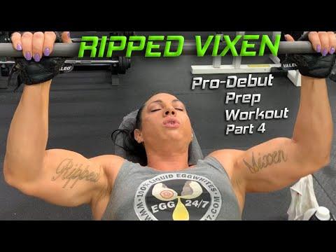 Female Bodybuilder Ripped Vixen Pro-Debut Prep Workout 4
