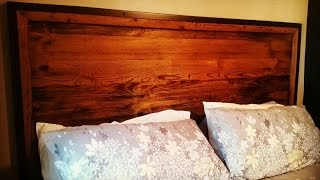 Building a Reclaimed Wood Head Board from Pallet Wood and Metal for a King Size Bed!!