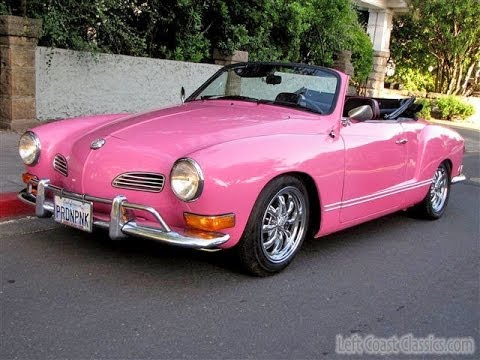 custom pink 1971 vw karmann ghia convertible for sale youtube. Black Bedroom Furniture Sets. Home Design Ideas