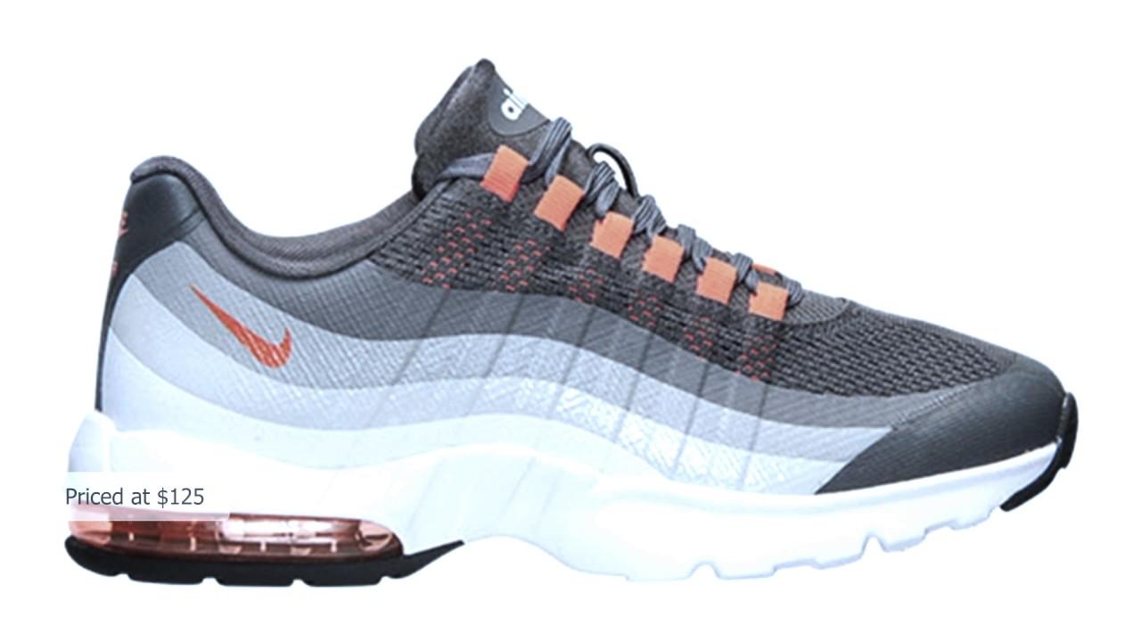 Nike Air Max  95 Ultra Women s Dark Grey Total Orange-Cool Grey-Wolf Grey 8725fbf51f