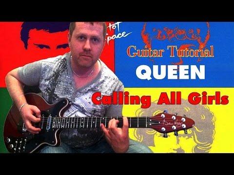 Calling All Girls  Queen  guitar tutorial