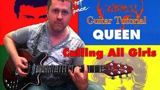 Calling All Girls - Queen - guitar tutorial