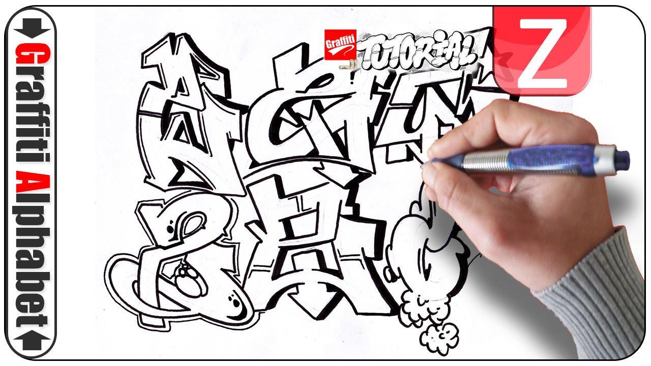 Graffiti alphabets buchstaben z letters z letras z