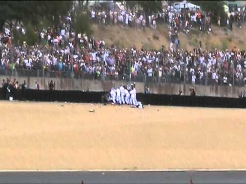 Allan McNish extraction after crash Le Mans 2011