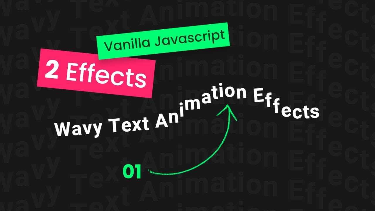 Javascript   Wavy Text CSS Animation Effects