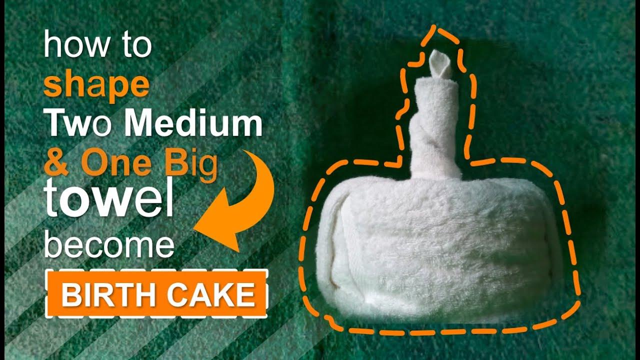 SIMPLE BIRTHDAY CAKE TOWEL DESIGN YouTube
