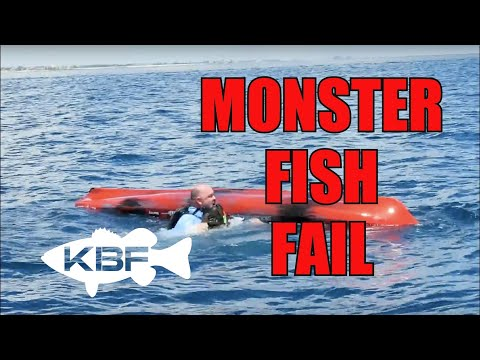 KAYAK FISHING MONSTER FISH | Fat Man Flipped Over - EPIC FAIL