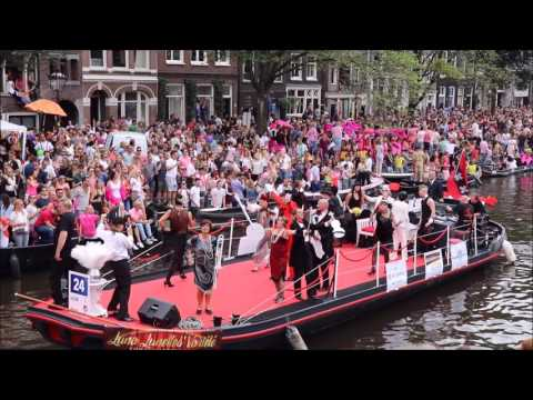 Gay Pride Canal Parade 2017 in Amsterdam.