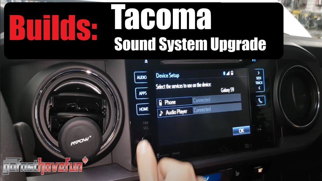 Builds: 2017 Toyota Tacoma Stealth JL Audio sound system | AnthonyJ350