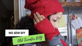 What to do with an old sweater | Beanie, Fingerless Gloves, Poncho and Leg warmers from 1 Sweater!