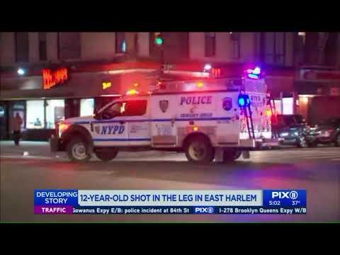 12-year-old boy shot in East Harlem
