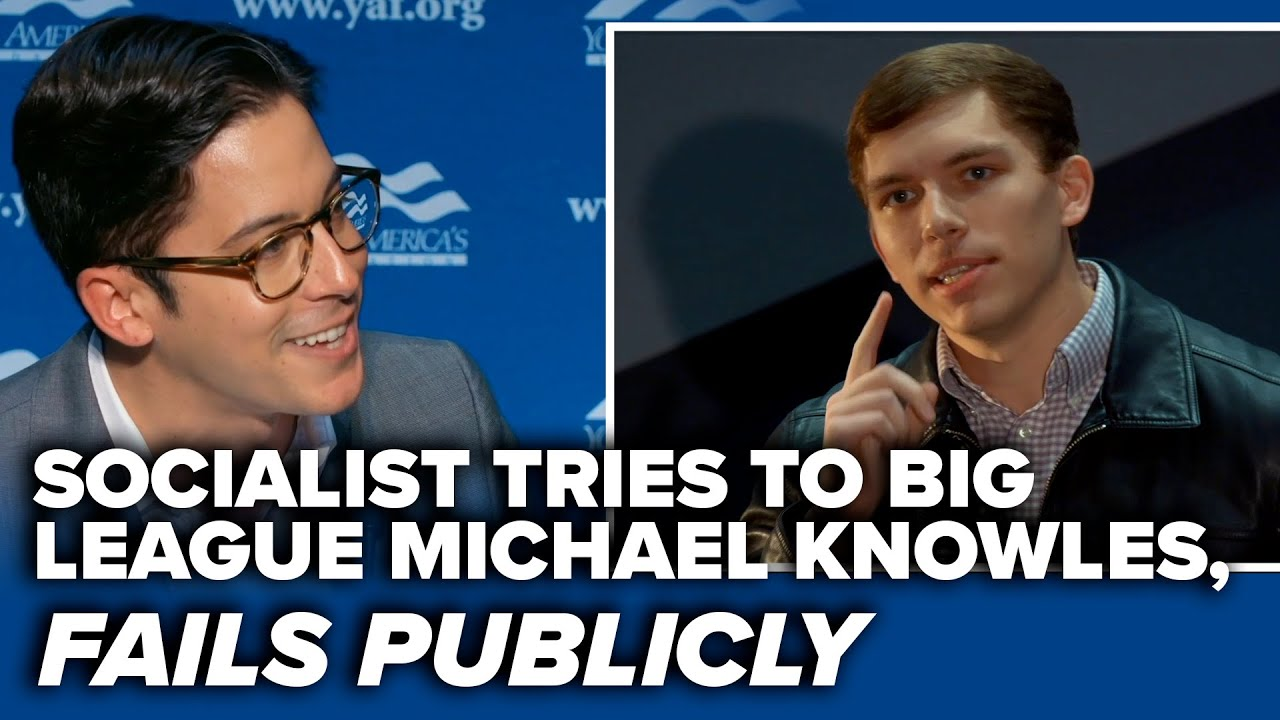 A SWING & A MISS: Socialist tries to big league Michael Knowles, fails publicly