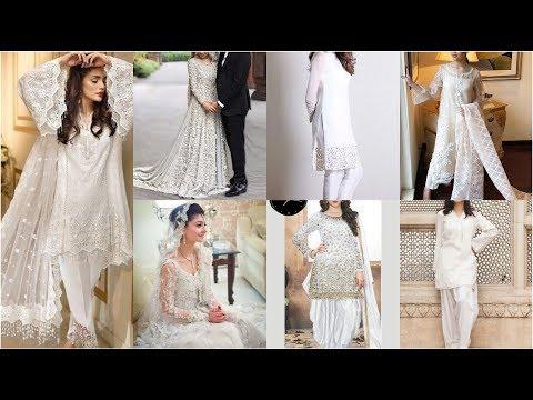 Very Decent Elegent & Stunning White Dresses /fancy Wear & Casual Wear White Dresses