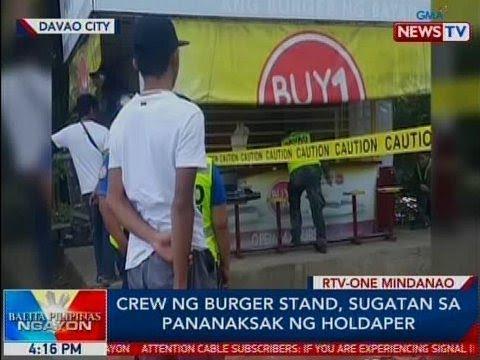 BP: Crew ng burger stand, sugatan sa pananaksak ng holdaper
