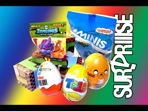 Kinder Minions, Adventure Time, Zomlings, Toto, Thomas blind bags and surprise eggs! Surpriiise!