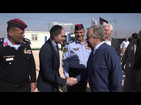 UN Secretary-General, António Guterres, visits Zaatari refugee camp in Jordan