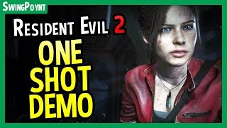 RESIDENT EVIL 2 ONE SHOT DEMO Gameplay  COMPLETED LIVE - (Resident Evil 2 Demo First Attempt PS4)