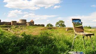 Картина Белгород-Днестровская крепость. Как все начиналось...(В видео представлен процесс от подготовки к творчеству до готового шедевра. Да, и красота природы, буйство..., 2016-05-16T04:34:42.000Z)