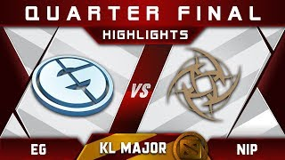 EG vs NiP Quarter Final Kuala Lumpur Major KL Major Highlights Dota 2