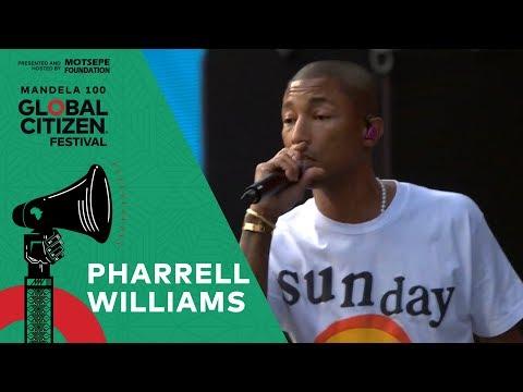 """Pharrell Williams Performs """"Freedom""""   Global Citizen Festival: Mandela 100"""