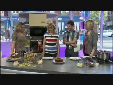 """Chocolate Simnel Cake"", Lisa Fearn, Heno, S4C, 5th April 2012"